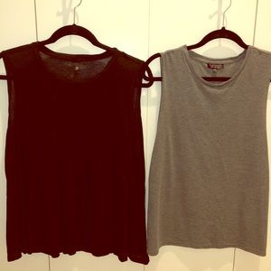 TOPSHOP tank bundle 1 x grey 1 x black US 6